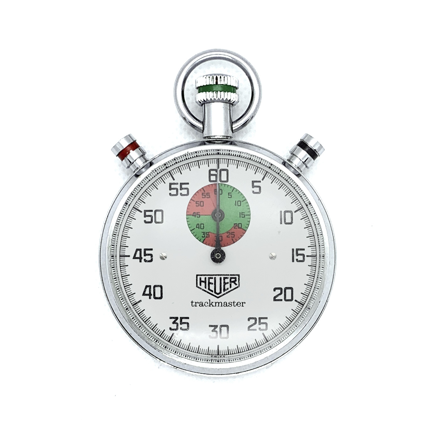 Vintage Heuer Leonidas 8037 Duel Pusher New Old Stock Stopwatch Case
